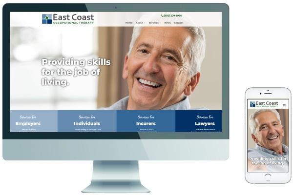 Responsive Website Development & SEO - East Coast Occupational Therapy
