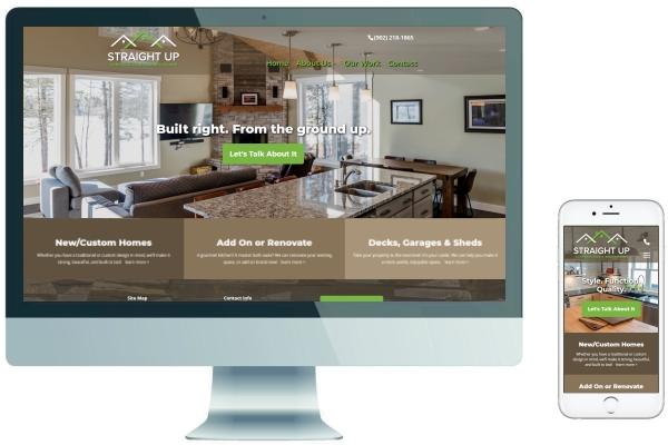 Responsive Website Development & SEO - Straight Up Construction